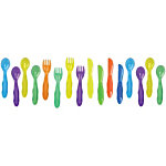 Take & Toss Toddler Flatware (with toddler knife) - 16-pack