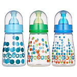 GumDrop 8oz Slim Neck Bottle 3-pack - girl