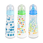 GumDrop 8oz Slim Neck Bottle 3-pack  - boy