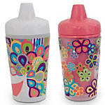 Smart Sipper 9oz Insulated Sippy Cups - Pretty Peacock (2-pack)