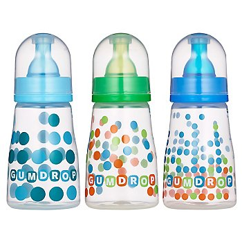 GumDrop 4 oz. Slim Neck Bottles 3-pack - boy