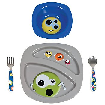 Entrées 4-Piece Feeding Set - Monsters