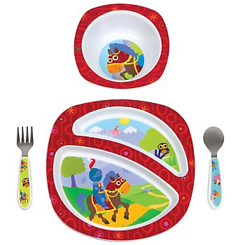 Sir Prance-a-Lot 4-piece Feeding Set (Lamaze design)
