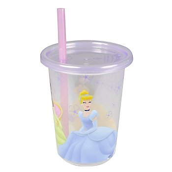 Disney Princess Take & Toss 10oz Straw Cups - 3-pack