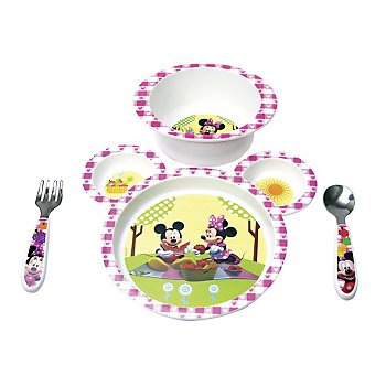 Minnie Mouse Clubhouse 4-piece Feeding Set