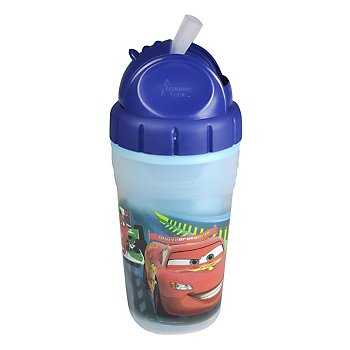 Disney-Pixar Cars 2 Insulated 9 oz Straw Cup.