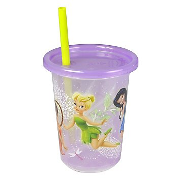 Disney Fairies Take & Toss 10oz Straw Cups - 3-pack