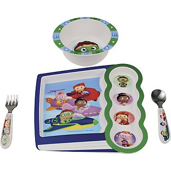 Super WHY 4-piece Feeding Set